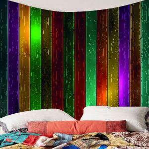 Wall Art Rainbow Wood Printed Celebration Background Hanging Tapestry -