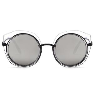 Vintage Metal Full Frame Round Sunglasses -