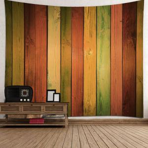 Rainbow Wood Grain Printed Wall Tapestry -