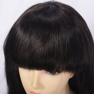Lace Front Long Neat Bang Indian Remy Human Hair Wig -