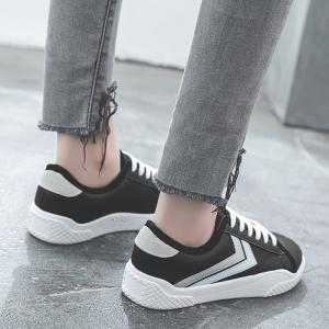 Stripe Trim Low Top Skate Shoes -