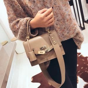 Minimalist Metal Lock Crossbody Bag -