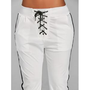 Front Tie Up Jogging Pants -