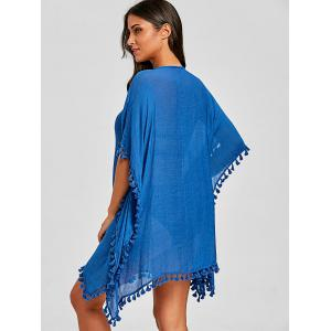 Crochet Knit Tassel Cover Up Dress -