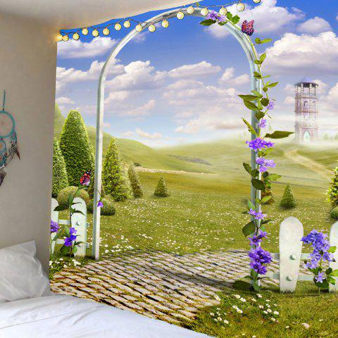 Latest Arch Garden Meadow View Printed Tapestry Wall Art