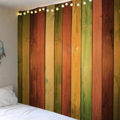 Store Rainbow Wood Grain Printed Wall Tapestry