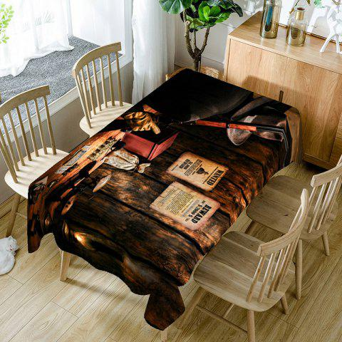 Trendy West Cowboy Print Table Cloth