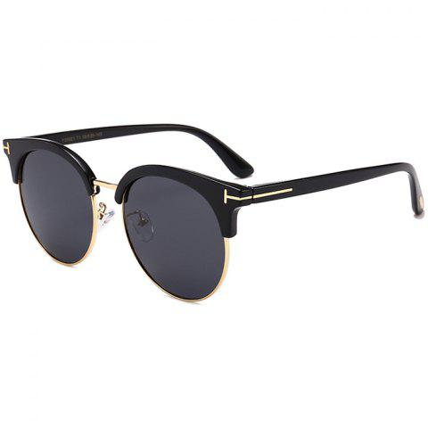Affordable Unique Letter T Decorative Metal Frame Driver Sunglasses