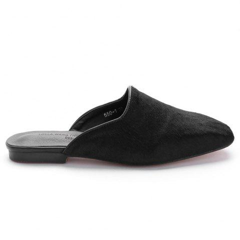 Discount Square Toe Flat Heel Loafers