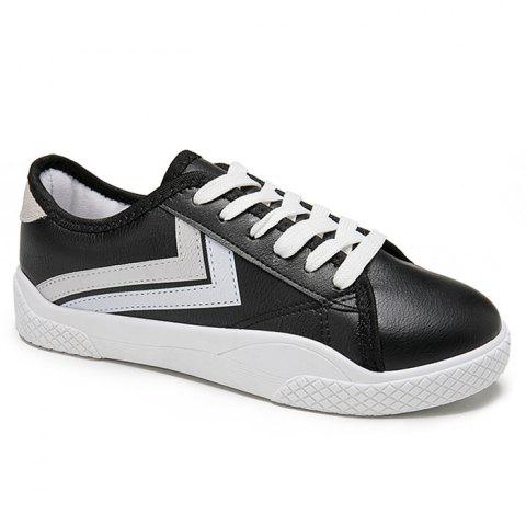 Discount Stripe Trim Low Top Skate Shoes