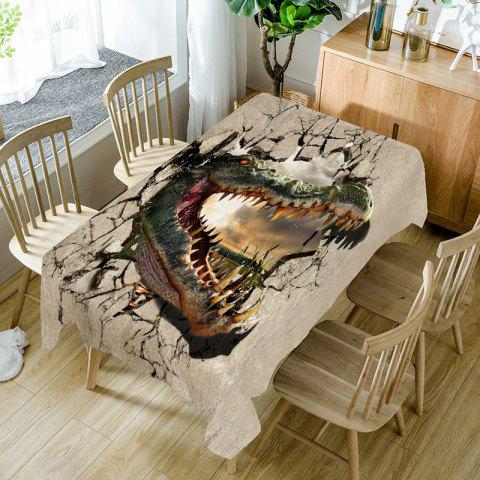 Chic Openmouthed Dinosaur Printed Table Cloth
