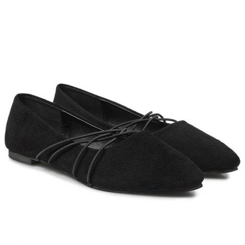 Outfit Pointed Toe Faux Suede Flats