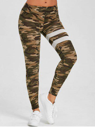 Fancy Elastic Waist Camo Print Leggings