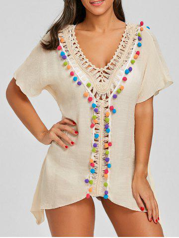 Outfit Crochet Front Batwing Sleeve Cover Up