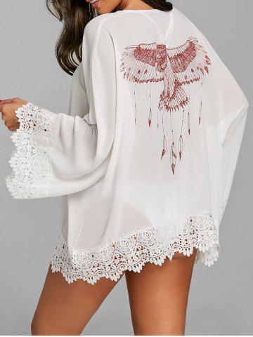 Fashion Chiffon See Through Lace Hem Cover Up