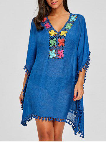 Shops Crochet Knit Tassel Cover Up Dress
