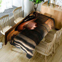 West Cowboy Hat Print Table Cloth -