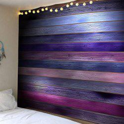 Coloured Plank Printed Wall Tapestry -