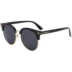 Unique Letter T Decorative Metal Frame Driver Sunglasses -
