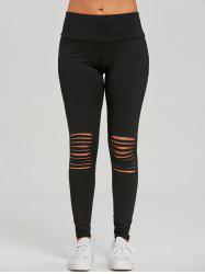 Distressed Skinny Workout Leggings -