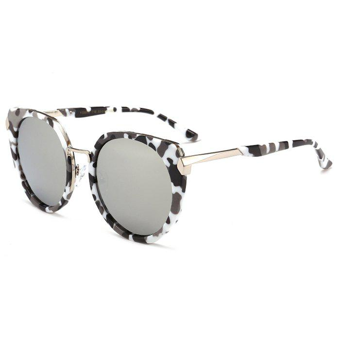Fashion Vintage Metal Full Frame Nose Pad Sunglasses