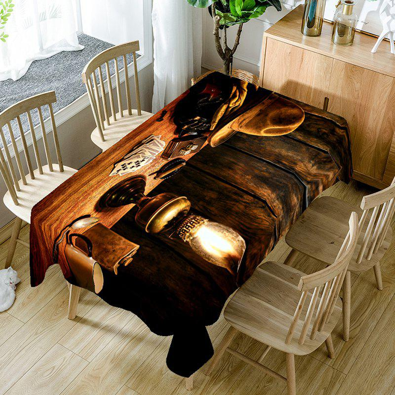 Discount West Cowboy Lantern Printed Table Cloth