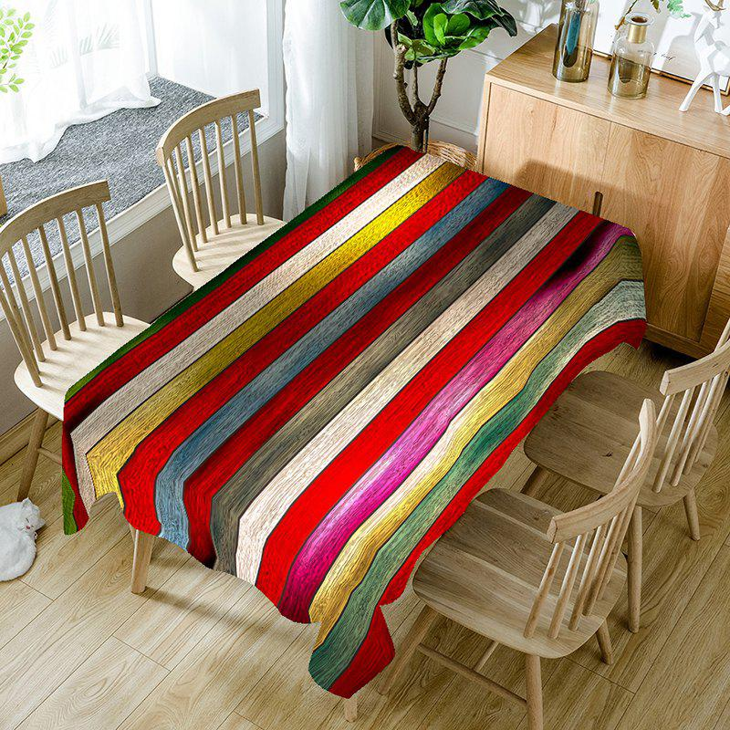 Shops Rainbow Wood Grain Print Table Cloth