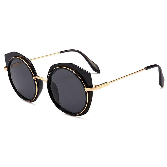 Fashion Vintage Metal Full Frame Round Sunglasses