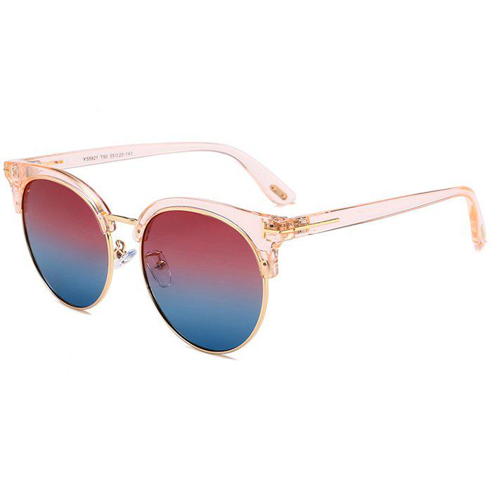 Outfit Unique Letter T Decorative Metal Frame Driver Sunglasses