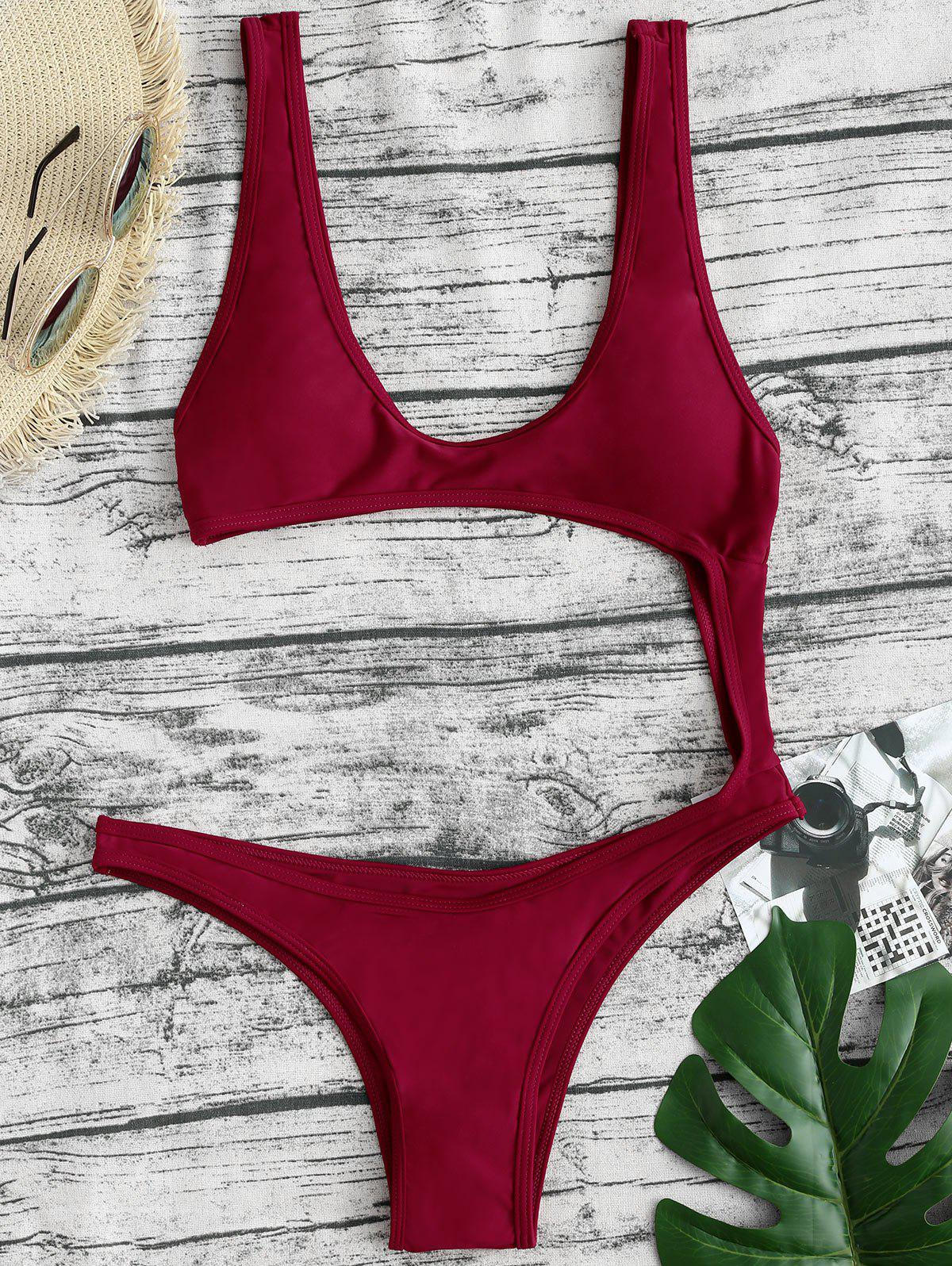 Online Monokini Backless Thong One-piece Swimsuit