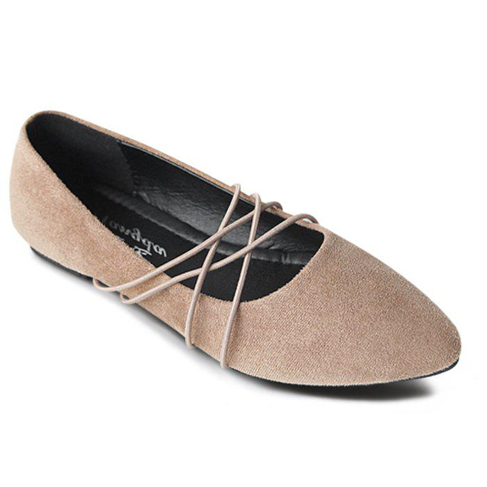 Hot Pointed Toe Faux Suede Flats
