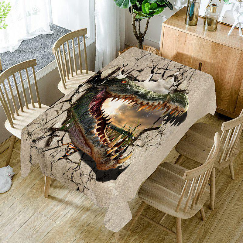Hot Openmouthed Dinosaur Printed Table Cloth