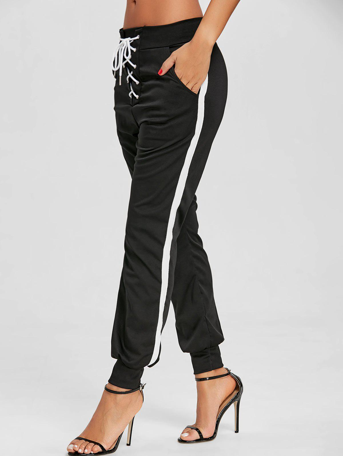 Chic Front Tie Up Jogging Pants