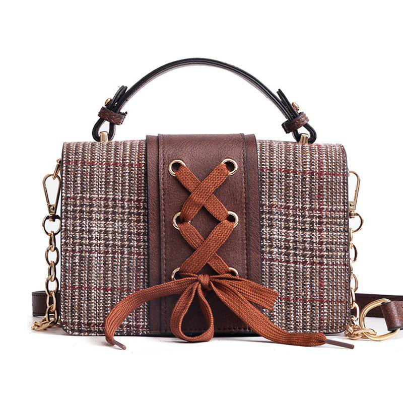 Outfit String Criss Cross Crossbody Bag