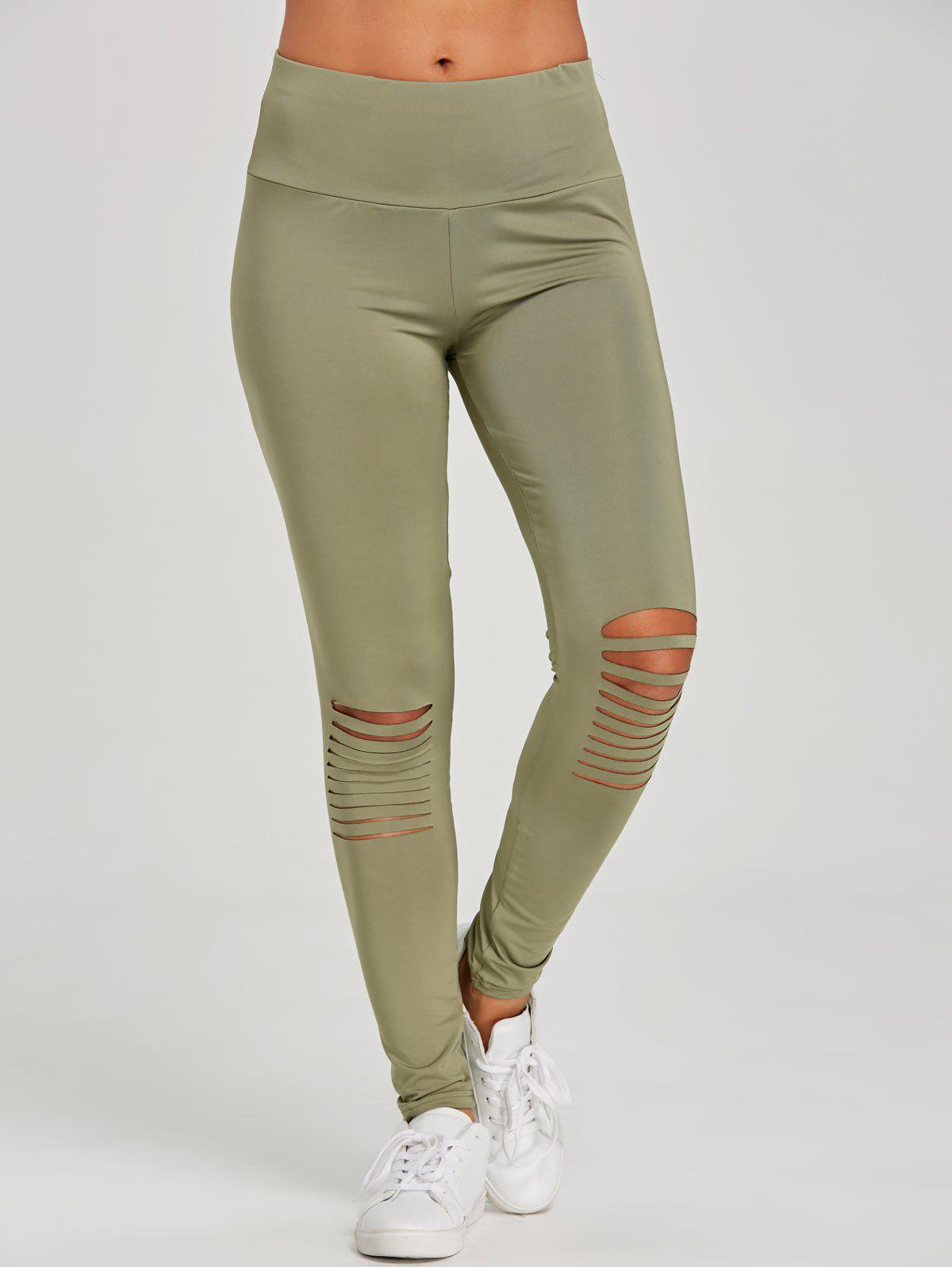 Hot Distressed Skinny Workout Leggings