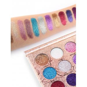 Professional 12 Colors Glitter Shimmer Long Lasting Eyeshadow Palette -