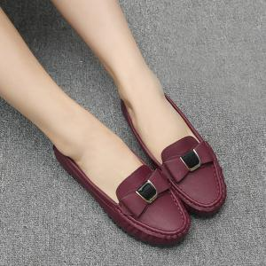 Bow Decorated Slip On Boat Shoes -