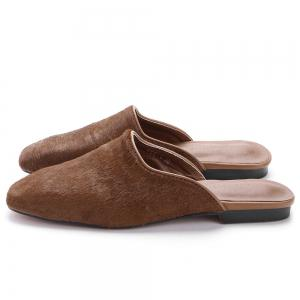 Square Toe Flat Heel Loafers -