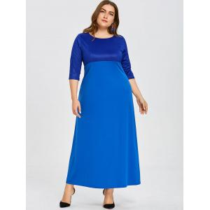 Plus Size Empire Waist Floor Length Dress -