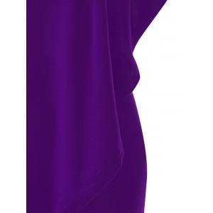 Plus Size One Shoulder Flounce Dress -