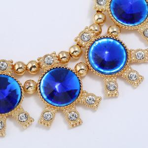 Sparkly Rhinestoned Alloy Round Party Jewelry Set -