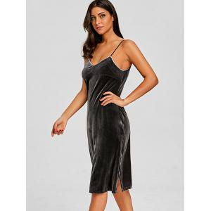 Velvet Lingerie Slip Dress -