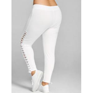 Plus Size Side Lace Up Leggings -
