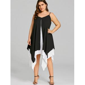 Plus Size Cami Two Tone Handkerchief Dress -
