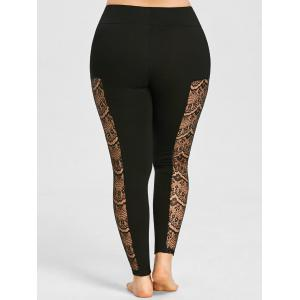 Leggings en dentelle transparente -