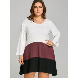 Plus Size Color Block T-shirt Dress -