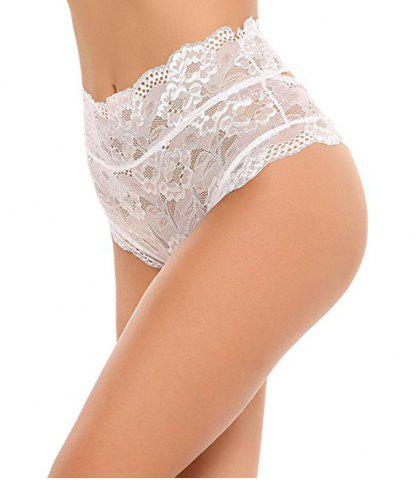 Discount Sheer High Waist Backless Cutout Lace Panties
