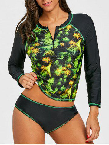 Affordable Printed Surf Two Piece Swimsuit