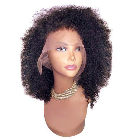 Discount Medium Free Part Shaggy Afro Curly Lace Front Synthetic Wig