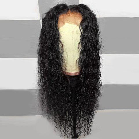 Hot Long Middle Part Shaggy Curly Lace Front Synthetic Wig